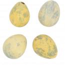 Quail egg natural matt, 2 colors, 3cm, yellow matt